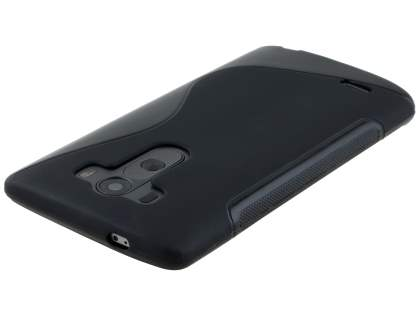 LG G3 Wave Case - Frosted Black/Black