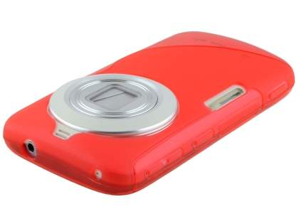 Wave Case for Samsung Galaxy K zoom - Frosted Red/Red