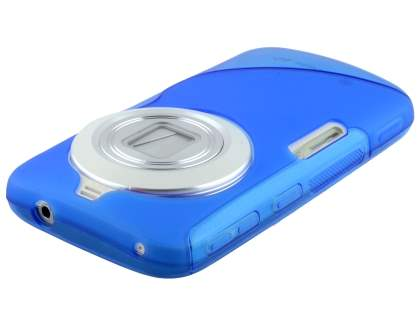 Wave Case for Samsung Galaxy K zoom - Frosted Blue/Blue