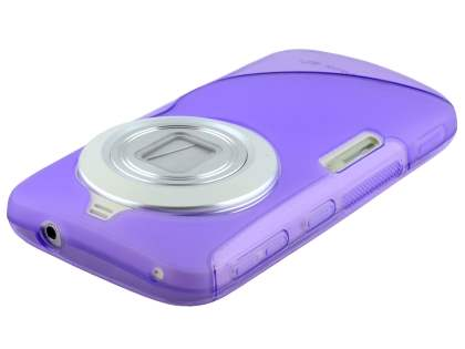 Samsung Galaxy K zoom Wave Case - Frosted Purple/Purple