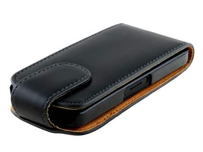 Nokia 301 Synthetic Leather Flip Case - Black