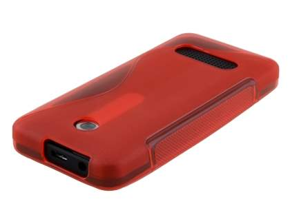 Wave Case for Nokia 301 - Frosted Red/Red