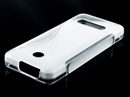 Nokia 301 Wave Case - Frosted Clear/Clear