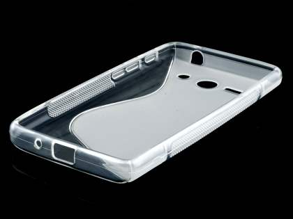 Huawei Ascend Y530 Wave Case - Frosted Clear/Clear