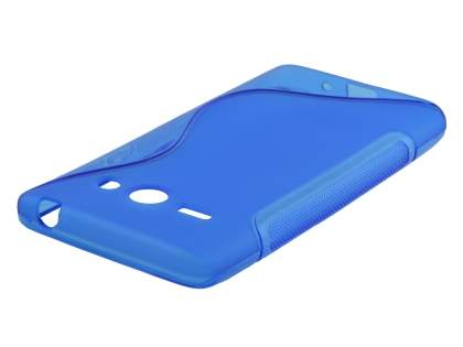Wave Case for Huawei Ascend Y530 - Frosted Blue/Blue Soft Cover