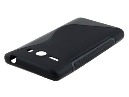 Wave Case for Huawei Ascend Y530 - Frosted Black/Black Soft Cover