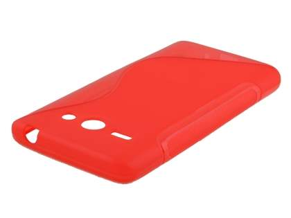 Wave Case for Huawei Ascend Y530 - Frosted Red/Red Soft Cover