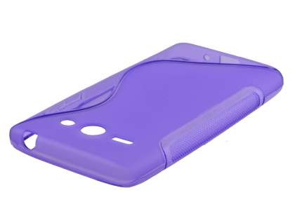 Wave Case for Huawei Ascend Y530 - Frosted Purple/Purple Soft Cover