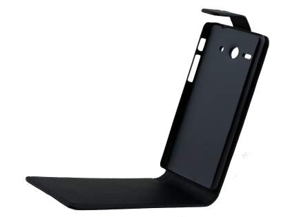 Huawei Ascend Y530 Synthetic Leather Flip Case - Black