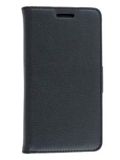 Nokia Lumia 930 Slim Synthetic Leather Wallet Case with Stand - Classic Black