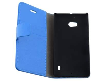 Nokia Lumia 930 Slim Synthetic Leather Wallet Case with Stand - Blue