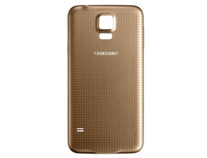 Genuine Samsung Galaxy S5 Battery Cover - Copper Gold Battery Cover