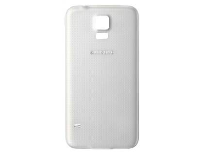 Genuine Samsung Galaxy S5 Battery Cover - Shimmery White Battery Cover