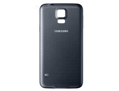 Genuine Samsung Galaxy S5 Battery Cover - Charcoal Black Battery Cover