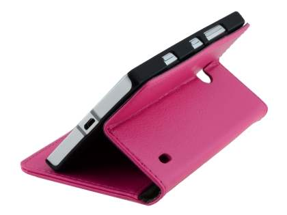 Nokia Lumia 930 Slim Synthetic Leather Wallet Case with Stand - Pink
