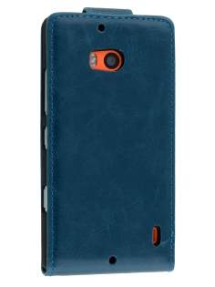 Nokia Lumia 930 Synthetic Leather Flip Case - Teal Blue