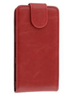 Synthetic Leather Flip Case for Sony Xperia Z1 Compact - red