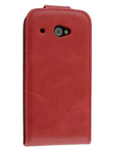 Synthetic Leather Flip Case for HTC Desire 601 - Red Leather Flip Case
