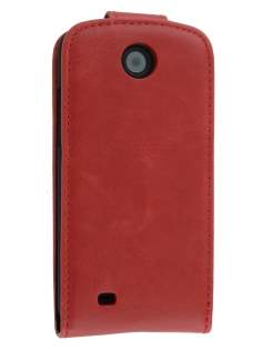 Synthetic Leather Flip Case for HTC Desire 300 - Red Leather Flip Case