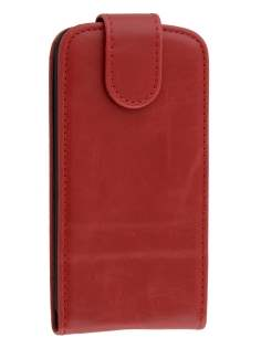 HTC Desire 300 Synthetic Leather Flip Case - Red