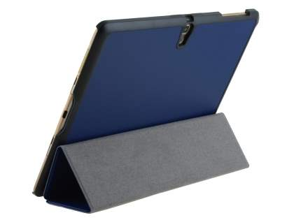 Premium Slim Synthetic Leather Flip Case with Stand for Samsung Galaxy Tab S 10.5 - Dark Blue