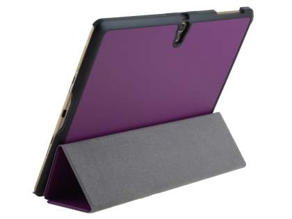 Premium Slim Synthetic Leather Flip Case with Stand for Samsung Galaxy Tab S 10.5 - Dark Purple