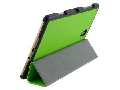 Premium Slim Synthetic Leather Flip Case with Stand for Samsung Galaxy Tab S 8.4 - Green Leather Flip Case