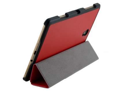 Premium Slim Synthetic Leather Flip Case with Stand for Samsung Galaxy Tab S 8.4 - Red Leather Flip Case