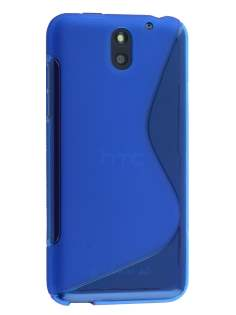 Wave Case for HTC Desire 610 - Frosted Blue/Blue Soft Cover
