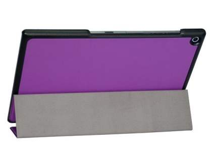 Premium Slim Synthetic Leather Flip Case with Stand for Sony Xperia Tablet Z2 - Purple