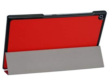 Premium Slim Synthetic Leather Flip Case with Stand for Sony Xperia Tablet Z2 - Red
