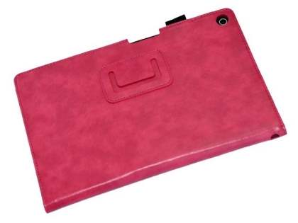 Synthetic Leather Flip Case with Fold-Back Stand for Sony Xperia Tablet Z2 - Hot Pink