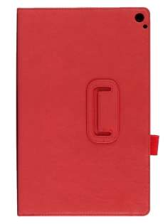 Synthetic Leather Flip Case with Fold-Back Stand for Nokia Lumia 2520 - Red Leather Flip Case
