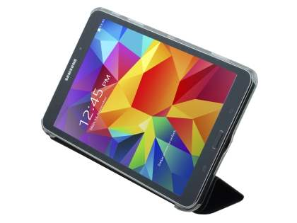 Samsung Galaxy Tab 4 8.0 Book-Style Case with Stand - Black/Frosted Clear