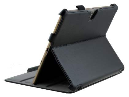 Samsung Galaxy Tab S 10.5 Slim Synthetic Leather Flip Case with Multi-Angle Tilt Stand - Classic Black