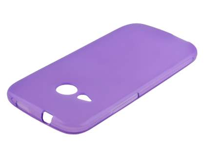 HTC One mini 2 Frosted Colour TPU Gel Case - Frosted Purple