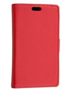 Synthetic Leather Wallet Case with Stand for Huawei Ascend Y530 - Red