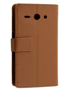 Synthetic Leather Wallet Case with Stand for Huawei Ascend Y530 - Coffee Leather Wallet Case