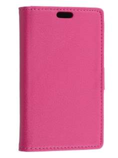 Synthetic Leather Wallet Case with Stand for Huawei Ascend Y530 - Pink