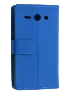 Synthetic Leather Wallet Case with Stand for Huawei Ascend Y530 - Blue Leather Wallet Case