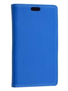 Synthetic Leather Wallet Case with Stand for Huawei Ascend Y530 - Blue
