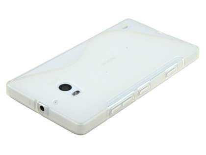 Nokia Lumia 930 Wave Case - Frosted Clear/Clear