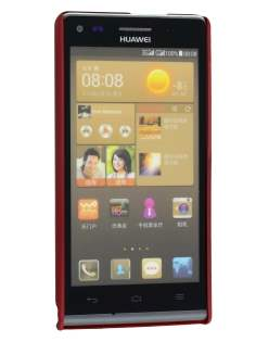 Huawei Ascend G6 4G UltraTough Rubberised Slim Case - Red