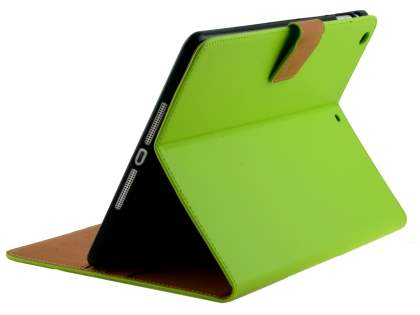 Premium Genuine Leather Case with Stand for iPad Air 1st Gen - Green Leather Flip Case