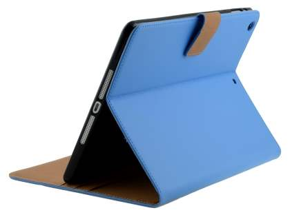 Premium Genuine Leather Case with Stand for iPad Air 1st Gen - Sky Blue Leather Flip Case