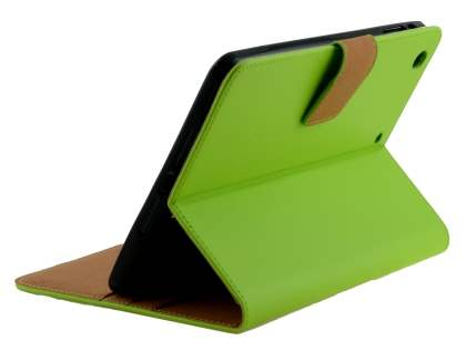 Premium Genuine Leather Case with Stand for iPad mini 1/2/3 - Green