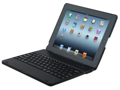 Bluetooth Keyboard and Battery Recharger Case for iPad 3/4 - Black Keyboard