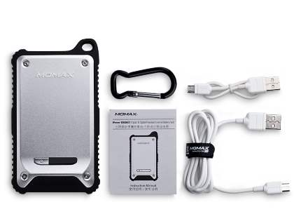 iPower TOUGH 2 Impact & Splash Resistant External Battery Pack with Dual USB Outputs - Silver/Black
