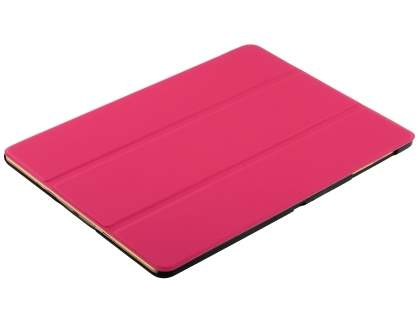 Premium Slim Synthetic Leather Flip Case with Stand for Samsung Galaxy Tab S 10.5 - Hot Pink