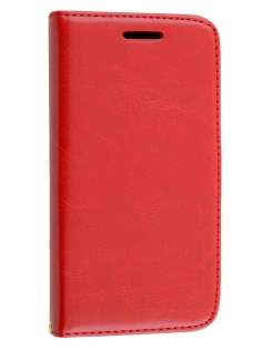 Synthetic Leather Wallet Case with Stand for Motorola Moto E 1st Gen - Red